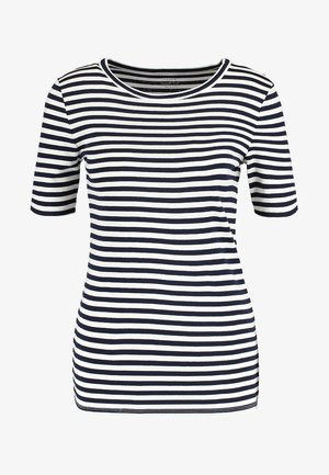 PERFECT FIT TEE  - Print T-shirt - navy/ivory