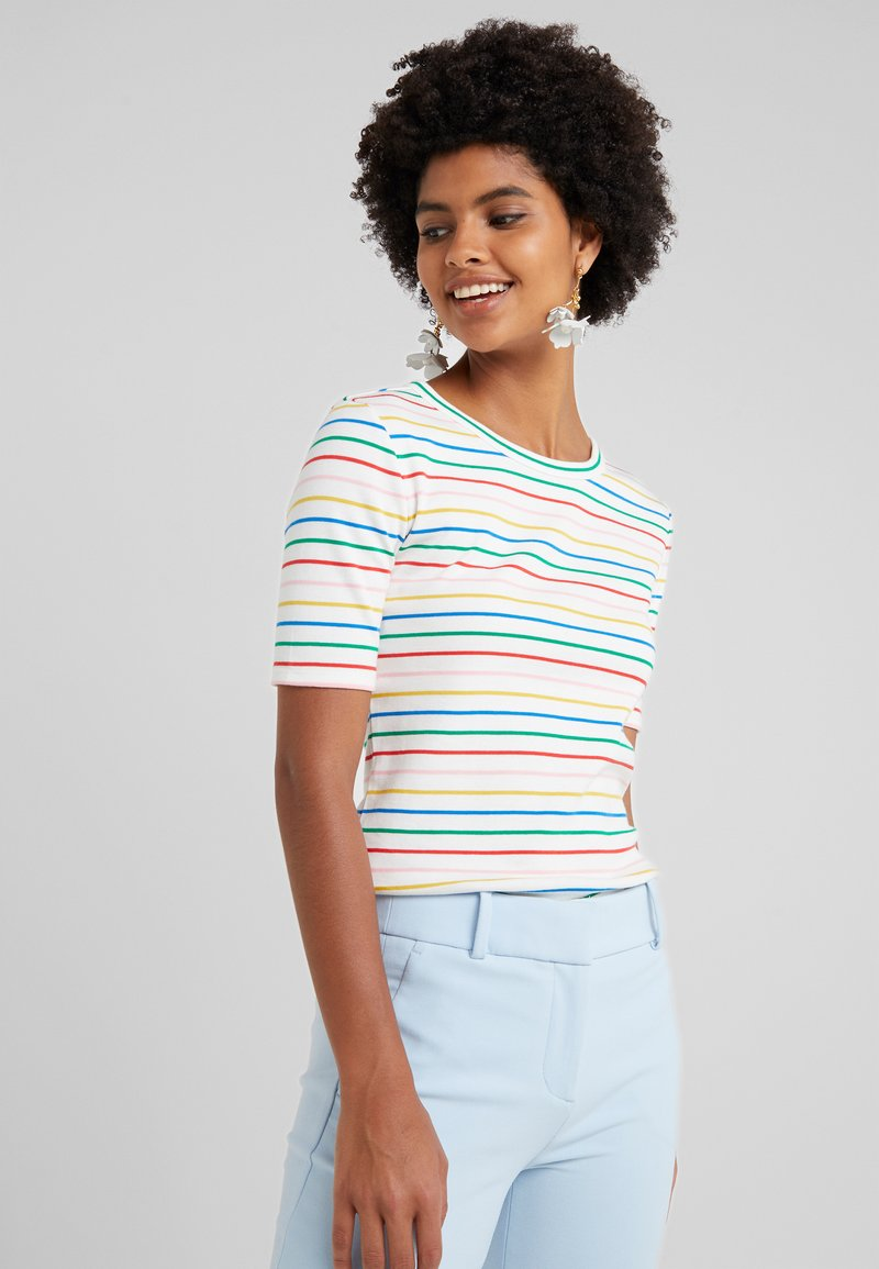 J.CREW - PERFECT FIT TEE STRIPE - T-Shirt print - candy rainbow