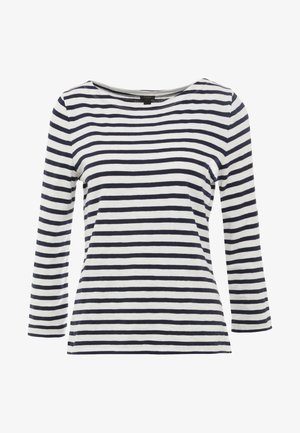 Long sleeved top - ivory/navy