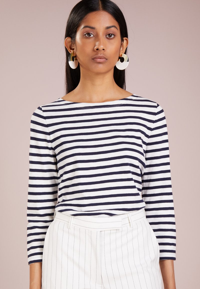 J.CREW - Long sleeved top - ivory/navy