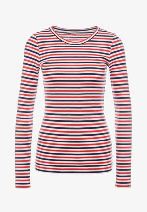 SLIM PERFECT LONG SLEEVE  - Top s dlouhým rukávem - cerise/ivory/navy