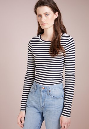 SLIM PERFECT LONG SLEEVE  - Pitkähihainen paita - navy/ivory
