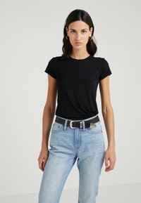 J.CREW - CREW STRETCH SHORT SLEEVE TEE - T-Shirt basic - black - 0