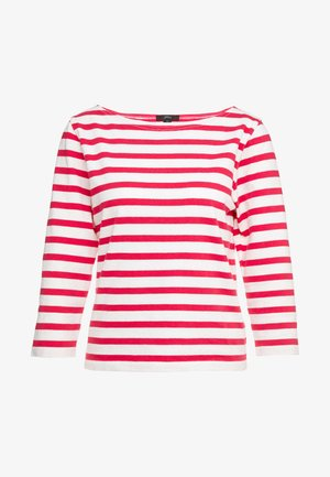 STRUCTURED BOAT NECK TEE - Trui - icon ivory/bright rose