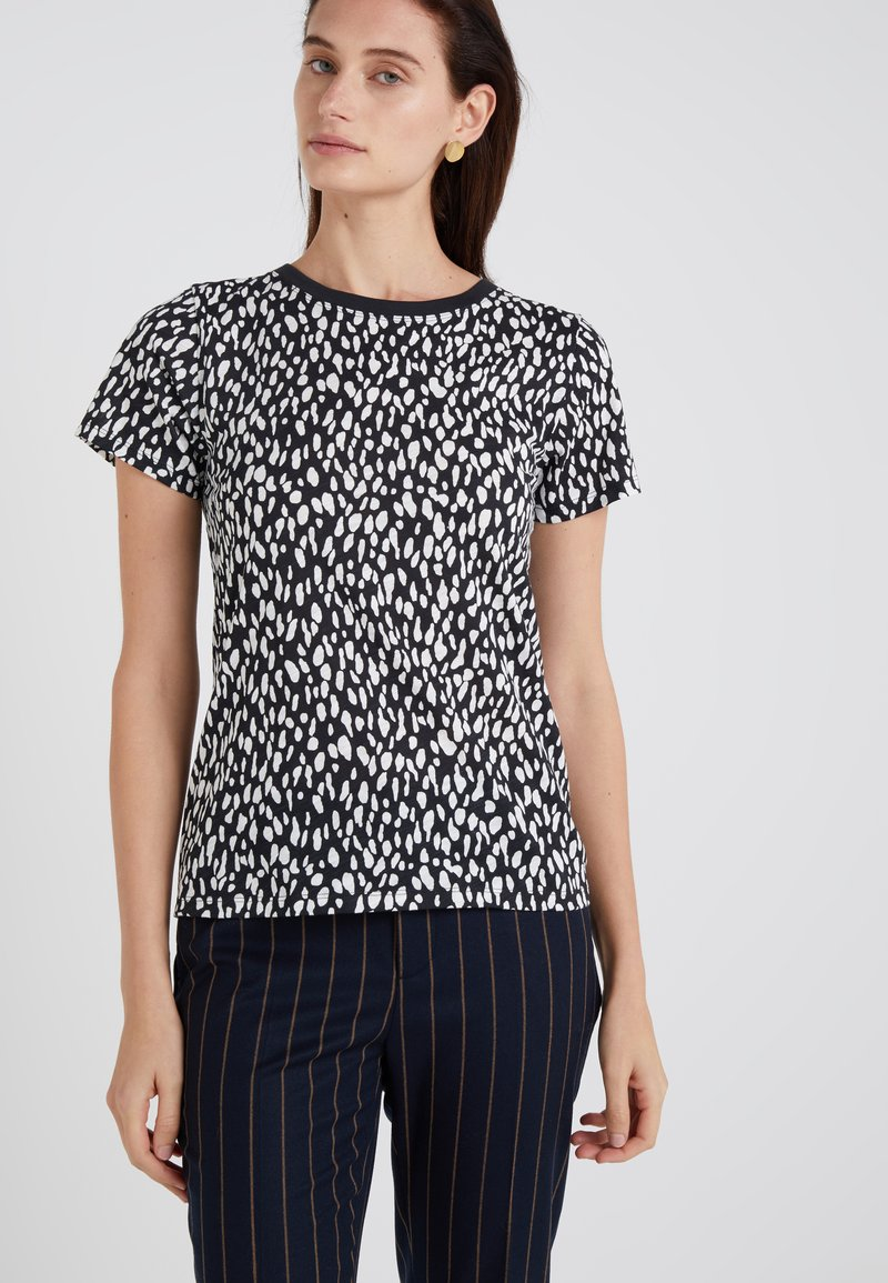 J.CREW - T-shirt med print - black/ivory