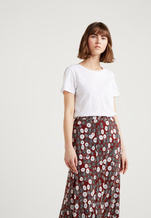 VINTAGE CREWNECK TEE - T-Shirt basic - white