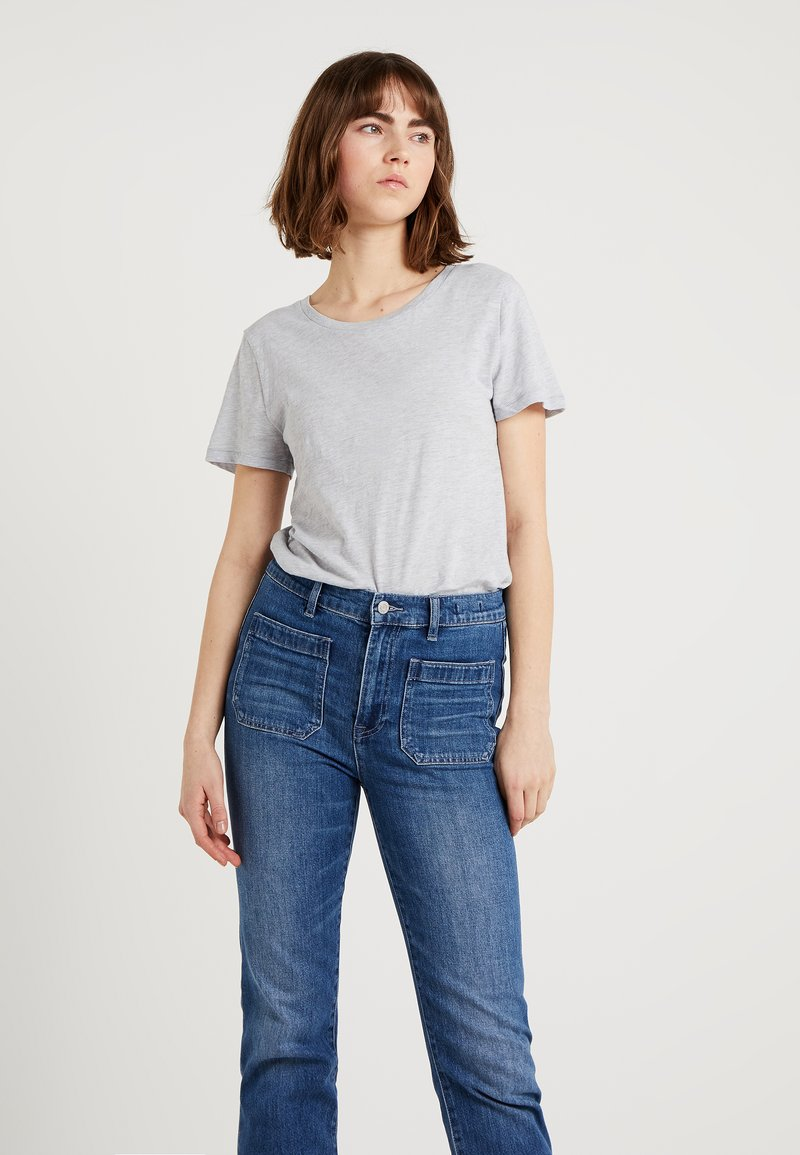 J.CREW - WHISPER CREWNECK TEE - T-Shirt basic - cloud heather