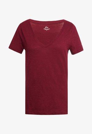 WHISPER V-NECK TEE - T-Shirt basic - vintage burgundy