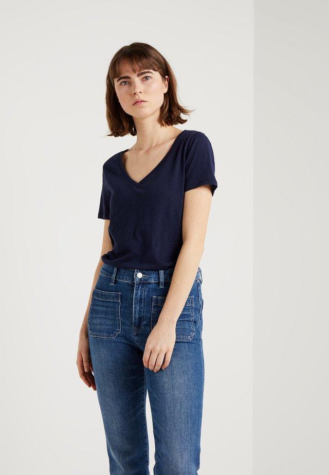 VINTAGE V-NECK TEE - Camiseta básica - navy