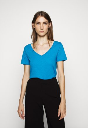 VINTAGE V NECK TEE - Basic T-shirt - prussian blue