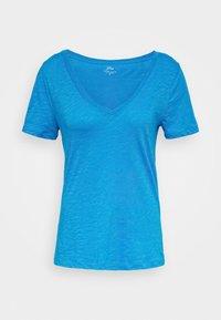 J.CREW - VINTAGE V NECK TEE - T-Shirt basic - prussian blue - 4
