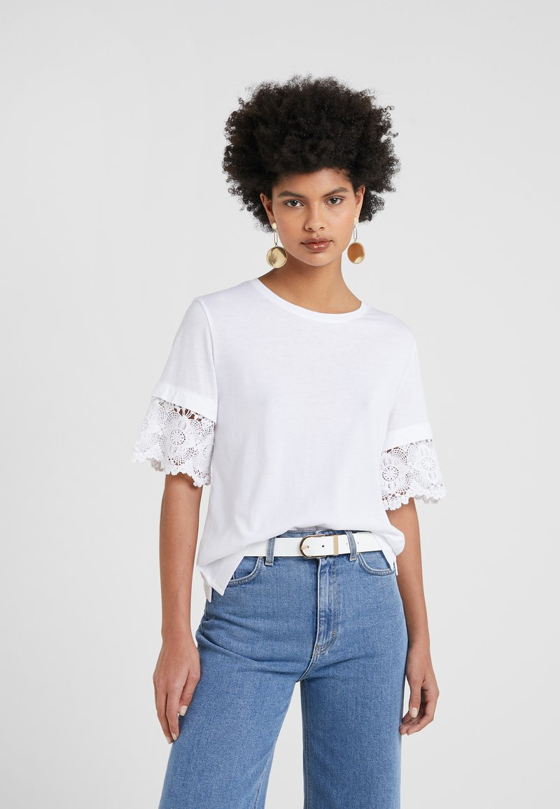 J.CREW - SLEEVE TEE - T-Shirt print - white