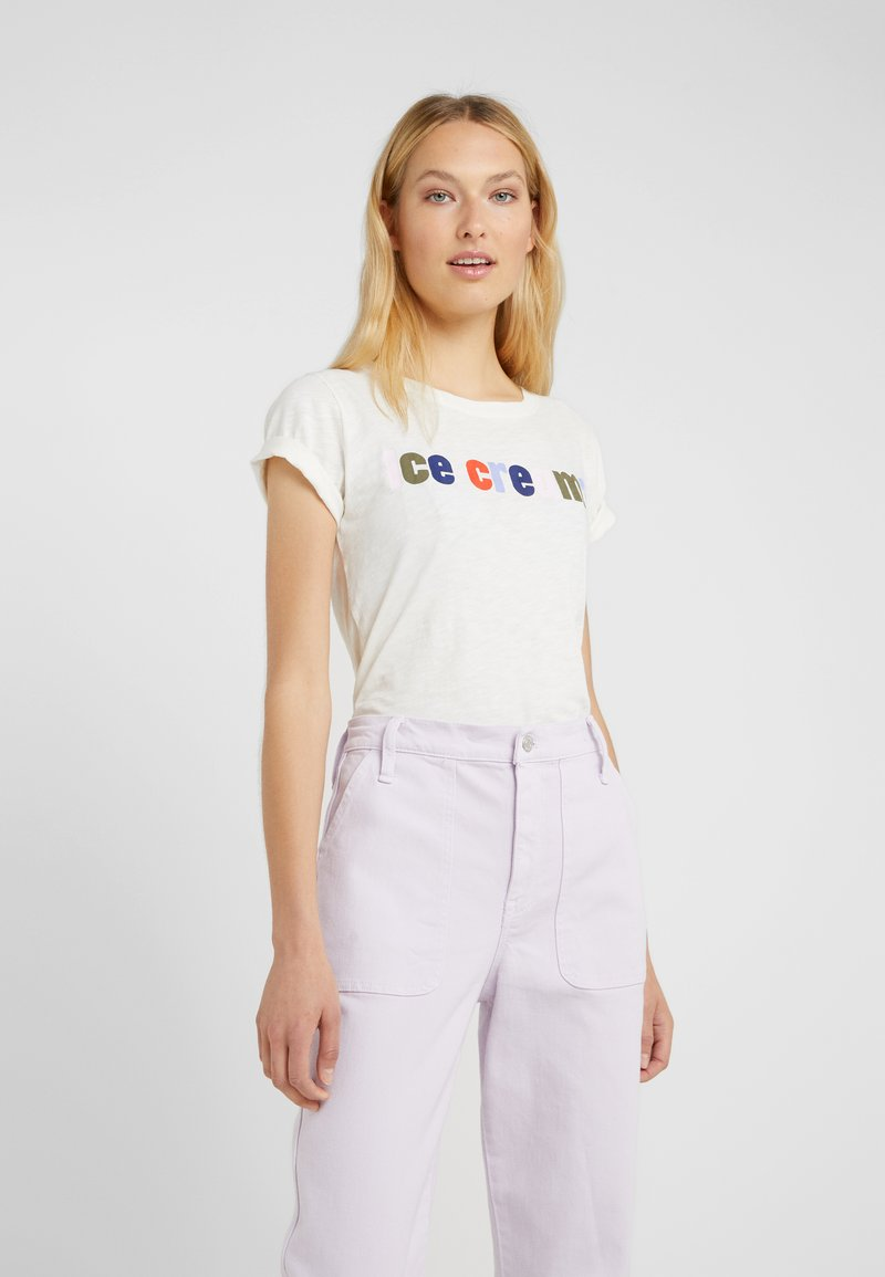 J.CREW - ICE CREAM TEE - T-shirt imprimé - white