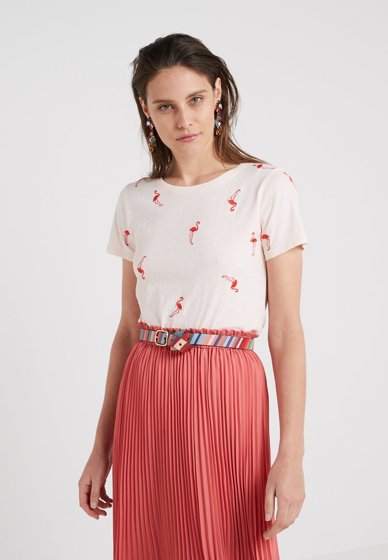 J.CREW - T-shirt med print - subtle pink