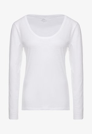 WHISPER SCOOP NECK - Camiseta de manga larga - white