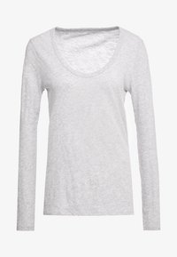 J.CREW - WHISPER SCOOP NECK - Long sleeved top - grey - 4