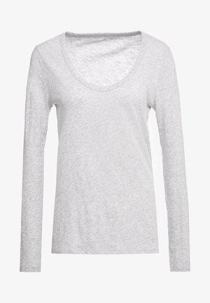 WHISPER SCOOP NECK - Langarmshirt - grey