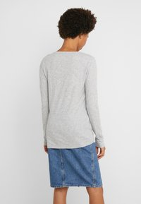 J.CREW - WHISPER SCOOP NECK - Long sleeved top - grey - 2