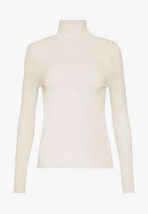 TISSUE TURTLENECK - T-shirt à manches longues - ivory