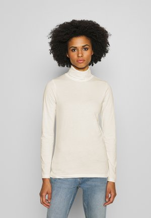 TISSUE TURTLENECK - Long sleeved top - ivory