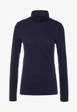 TISSUE TURTLENECK - Longsleeve - navy