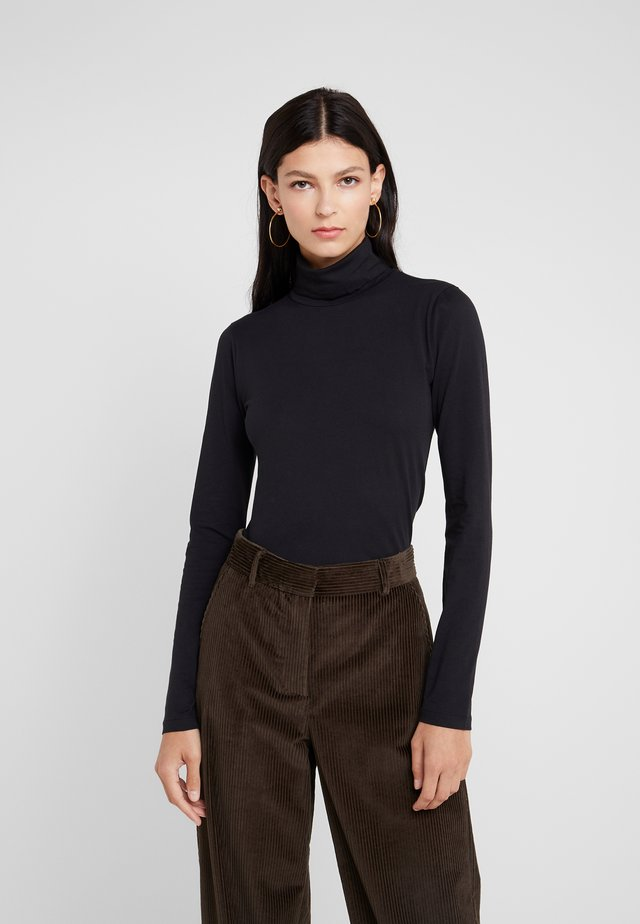 TISSUE TURTLENECK - Long sleeved top - black