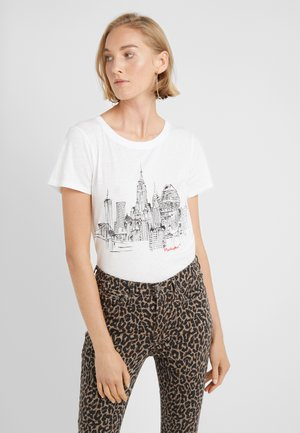 SKETCHED NYC TEE - T-shirt imprimé - ivory