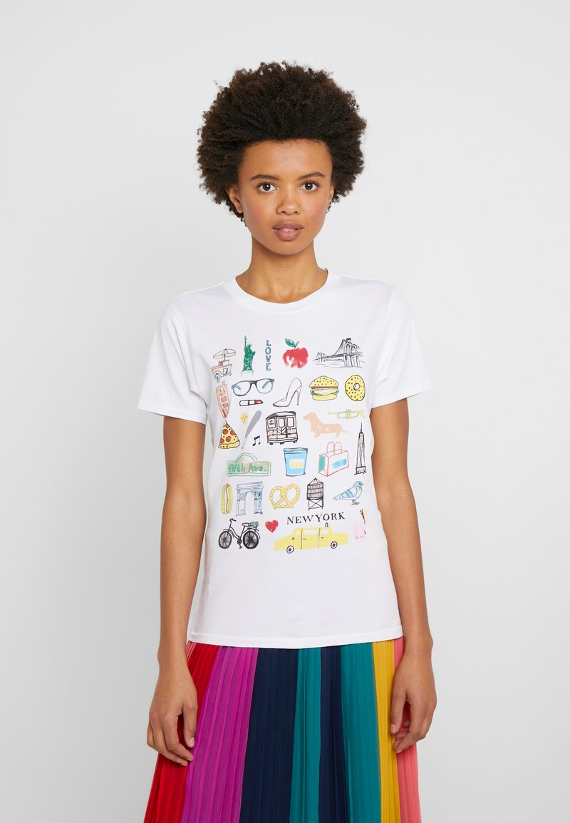J.CREW - DESTINATION TEE - Print T-shirt - white