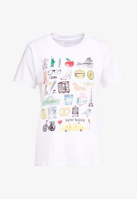 J.CREW - DESTINATION TEE - Print T-shirt - white - 4