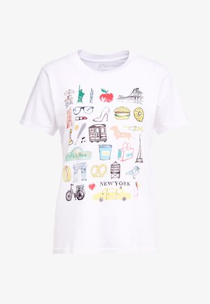 DESTINATION TEE - Camiseta estampada - white