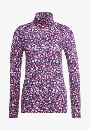 TISSUE TURTLENECK FLORAL - Bluzka z długim rękawem - pink