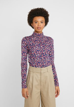 TISSUE TURTLENECK FLORAL - Long sleeved top - pink