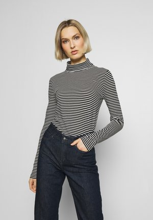 TURTLENECK STRIPE - Long sleeved top - black/ecru