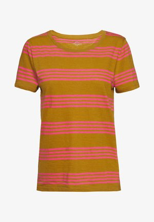 VINTAGE CREWNECK MIXED STRIPE - T-shirt print - kara/tan