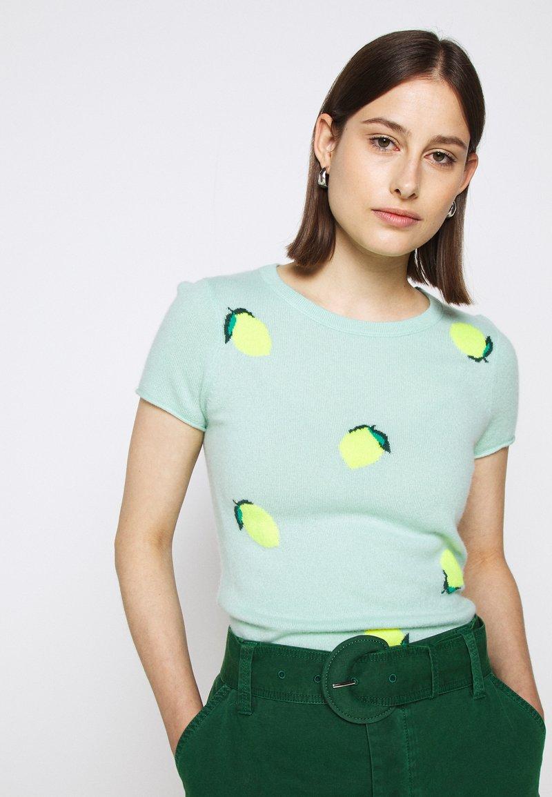 J.CREW - LEMON TEE - Print T-shirt - seaside aqua/citrus