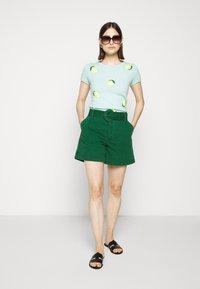 J.CREW - LEMON TEE - Print T-shirt - seaside aqua/citrus - 1