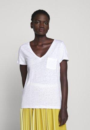 V NECK TEE - T-shirt basic - white