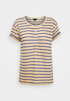 ROLL CUFF STRIPE - Print T-shirt - yellow/sea marie