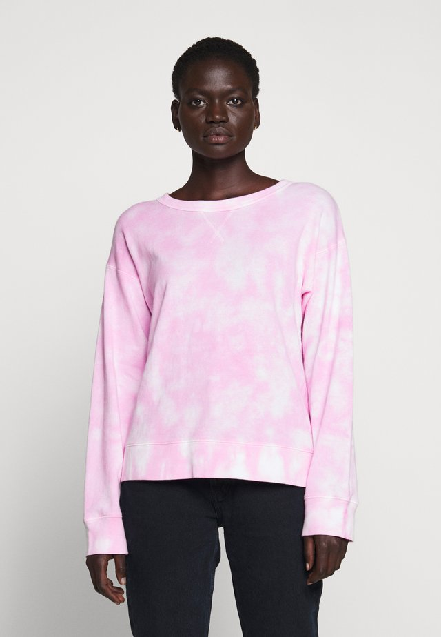 MAGIC WASH CREWNECK TIE DYE - Sweatshirt - neon azalea