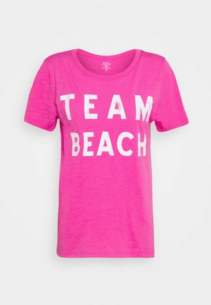 TEAM BEACH TEE - Print T-shirt - vibrant fuchsia