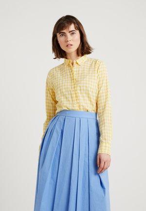 RELAXED CRINKLE GINGHAM - Overhemdblouse -  yellow
