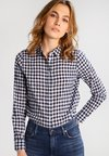 J.CREW - RELAXED CRINKLE GINGHAM - Button-down blouse - navy
