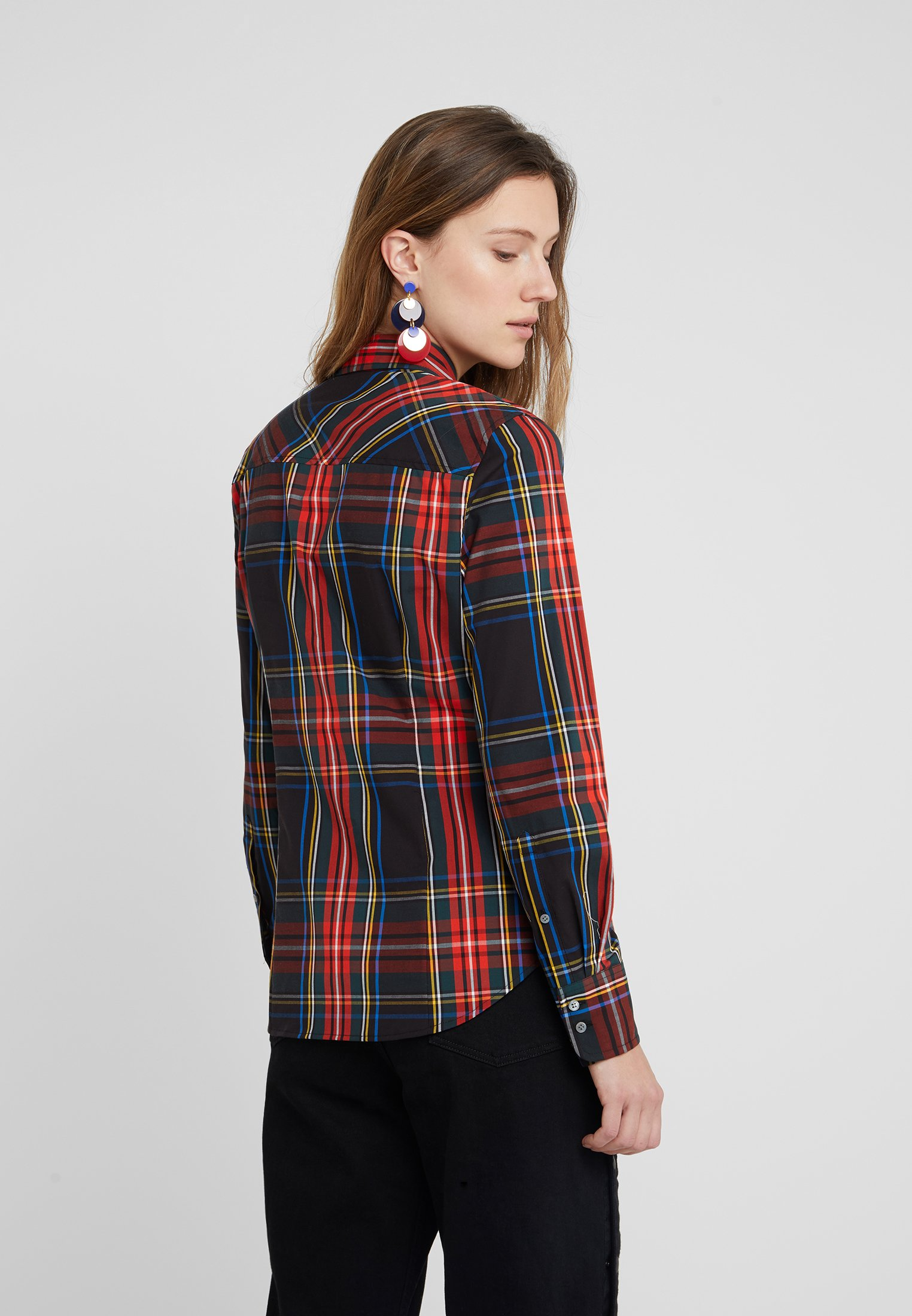 J.CREW PERFECT IN STEWART PLAID SLIM FIT - Skjorte - red/green/multi
