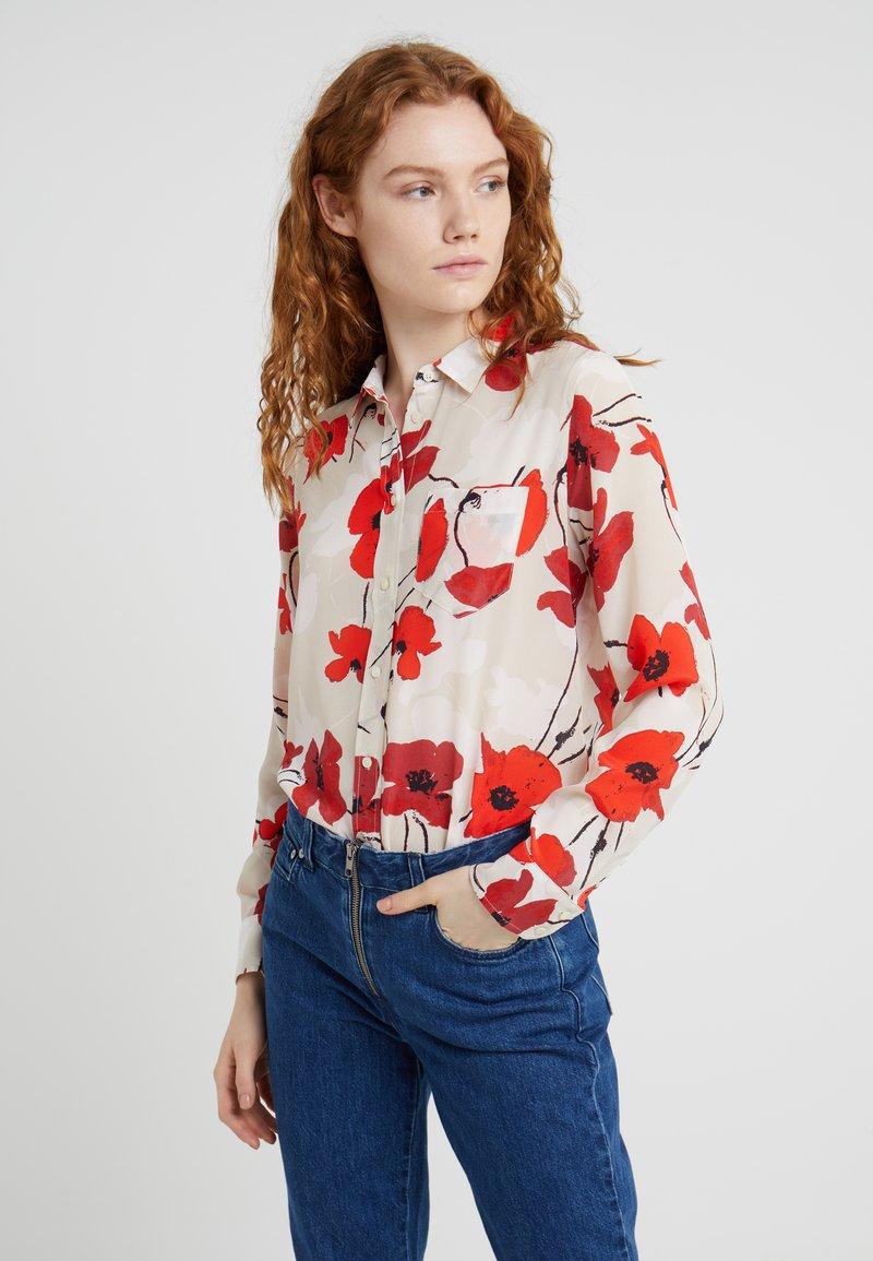 J.CREW - BOY WELSH POPPY - Button-down blouse - natural/cerise