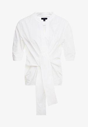 AYAKA TIE FRONT SOLID - Bluzka - white