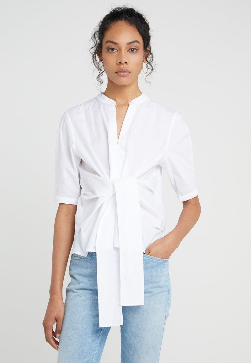 J.CREW - AYAKA TIE FRONT SOLID - Blouse - white