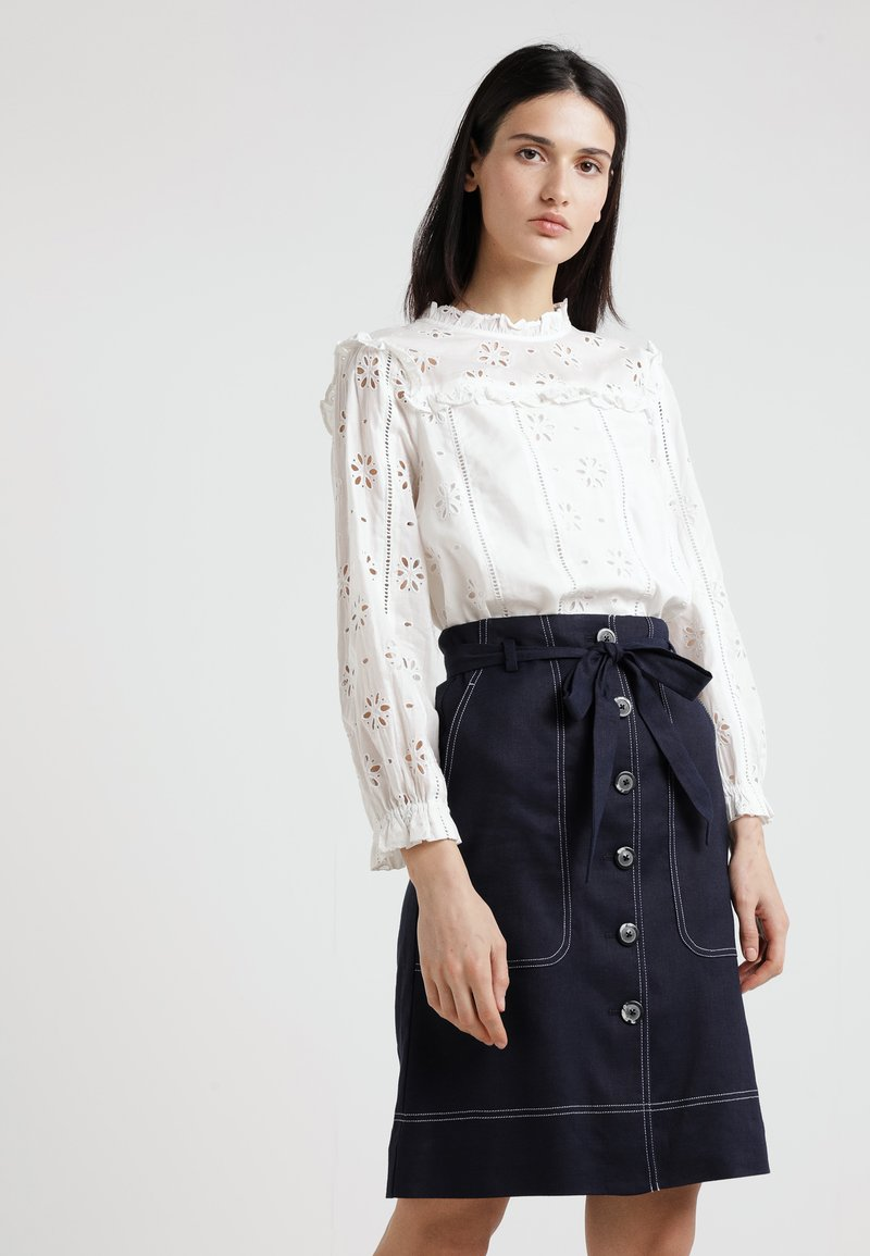 J.CREW - BASH TOP EMBROIDERED EYELET - Bluse - ivory