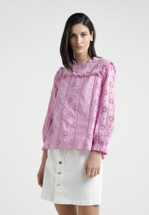 BASH TOP EMBROIDERED EYELET - Bluser - sundrenched peony