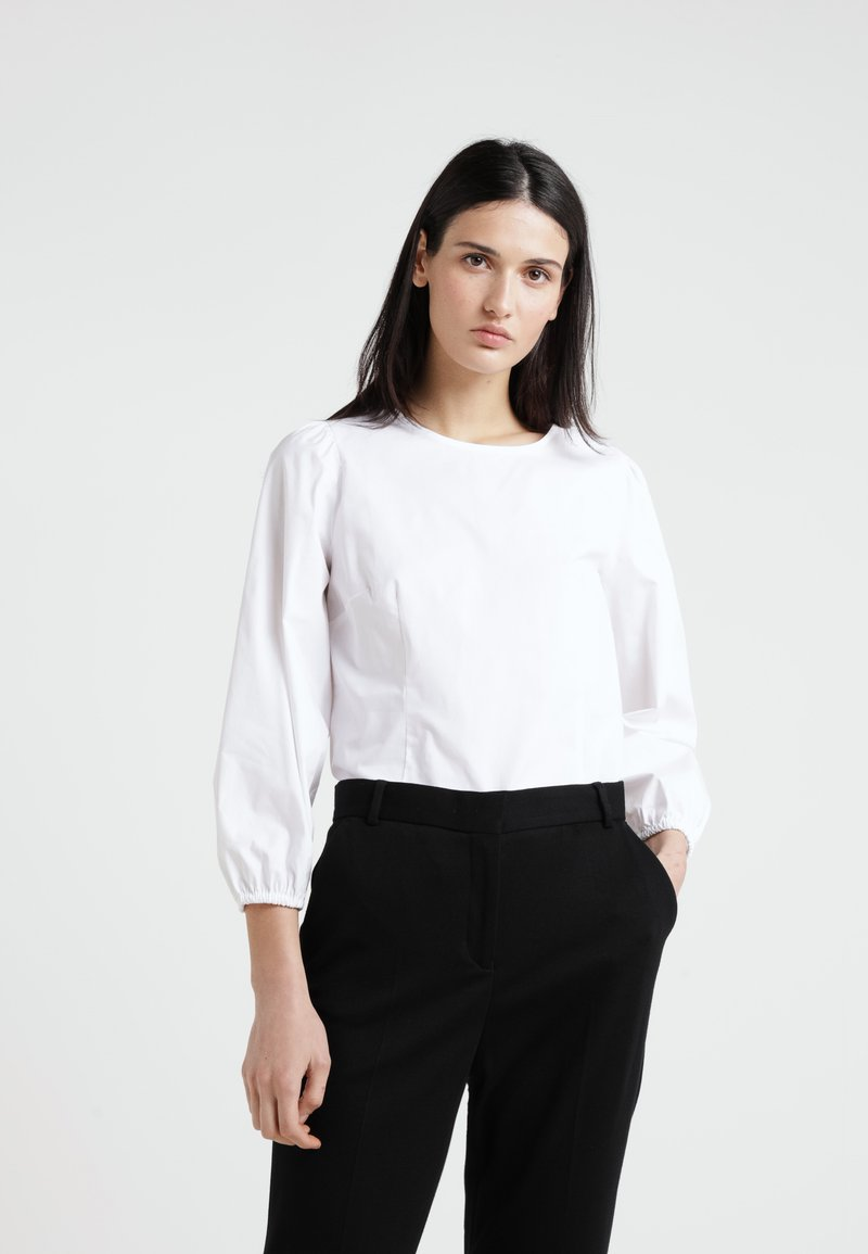 J.CREW - RORY PUFF SLEEVE TOP - Bluse - white