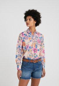 J.CREW - CLASSIC POPOVERT LIBERTY PAVILION - Button-down blouse - pink/multi - 0